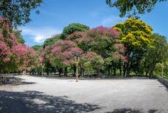 圣马丁将军广场在Retiro -布宜诺斯艾利斯,阿根廷 免版税图库摄影