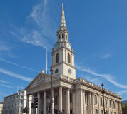 圣马丁教会伦敦 库存照片