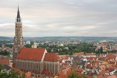 圣马丁教会和Landshut 免版税库存图片