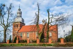 圣马丁教会在Znin,波兰 图库摄影