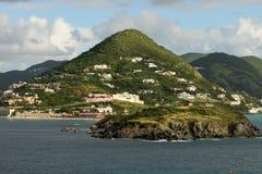 圣马丁海岛的风景看法  免版税图库摄影