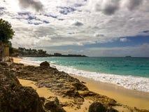 圣马丁海岛苏醒 免版税库存照片