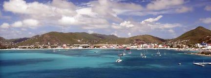 圣马丁海湾横幅 免版税库存图片