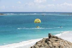 圣马丁海滩鸟瞰图  免版税库存照片
