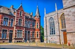 圣马丁牧师会主持的教堂在列日,比利时,比荷卢三国, HDR 库存图片