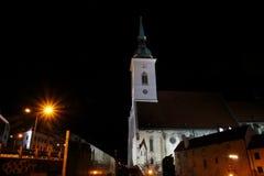 圣马丁的大教堂,布拉索夫 库存照片