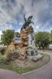 圣马丁省广场在Gualeguaychu,阿根廷 库存图片