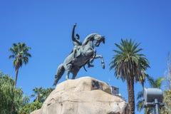 圣马丁省广场在Mendoza,阿根廷。 免版税库存照片