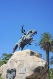 圣马丁省广场在Mendoza,阿根廷。 库存图片