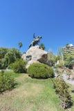 圣马丁省广场在Mendoza,阿根廷。 图库摄影
