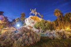 圣马丁省广场在Mendoza,阿根廷。 免版税库存图片