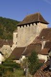 圣马丁de Vers,全部,法国中世纪村庄  免版税库存图片