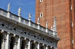 圣马克图书馆楼梯栏杆 免版税库存图片