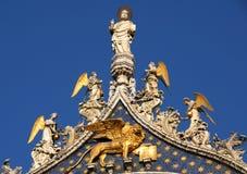 圣马克大教堂尖顶 免版税库存图片