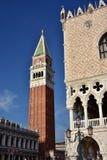 圣马克广场地标在威尼斯 免版税图库摄影