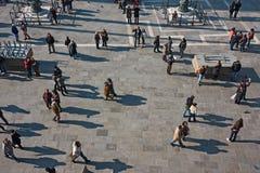 圣马克广场,看法从上面 库存照片