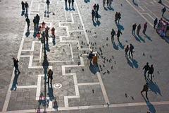 圣马克广场,看法从上面 图库摄影