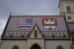 圣马克教会,萨格勒布 库存照片