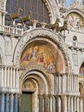 圣马克的大教堂,威尼斯,意大利入口  免版税库存照片