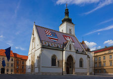 圣马克的教会在萨格勒布・克罗地亚 免版税库存照片