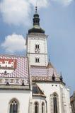 圣马克的教会,萨格勒布 库存照片