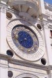 圣马克的clocktower的时钟表盘 免版税库存照片