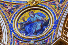 圣马克马赛克圣伯多禄` s大教堂梵蒂冈罗马意大利 免版税图库摄影