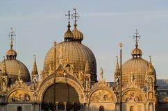 圣马克` s大教堂在威尼斯意大利 免版税库存照片