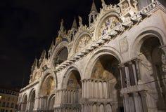 圣马克` s大教堂门面视图  免版税库存照片