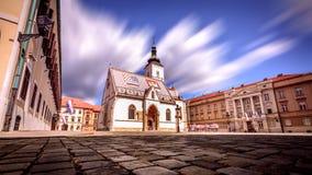 圣马克` s教会萨格勒布・克罗地亚 免版税库存照片