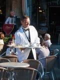 圣马克` s正方形的餐馆 免版税库存图片