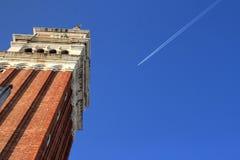 圣马克` s钟楼,威尼斯 免版税库存图片