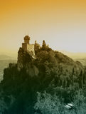 圣马力诺城堡  库存照片