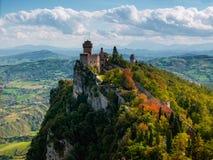 圣马力诺塔。 意大利 免版税库存照片