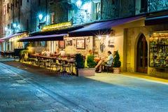 圣马力诺夜生活 库存图片