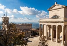 圣马力诺大教堂 图库摄影