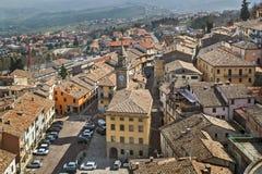 圣马力诺市看法  库存图片