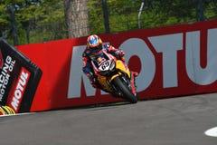 圣马力诺意大利- 5月12日:尼基海登美国本田CBR1000RR本田世界在行动的超级摩托车队 库存图片