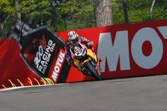 圣马力诺意大利- 5月12日:尼基海登美国本田CBR1000RR本田世界在行动的超级摩托车队 图库摄影