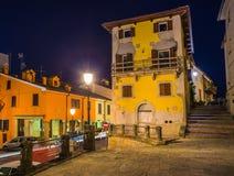 圣马力诺晚上街道  免版税图库摄影