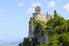 圣马力诺的Cesta塔 免版税库存图片