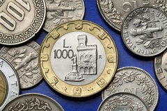圣马力诺硬币  图库摄影