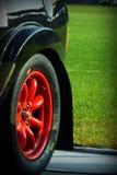 圣马力诺2017年10月21日-在集会的红色轮子圈子传奇 库存图片