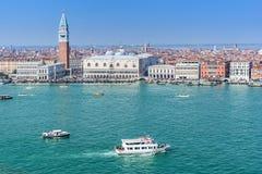 圣马可广场在威尼斯意大利 免版税库存图片