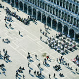 圣马可广场在威尼斯,意大利 库存图片