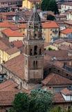 圣马尔切利诺,克雷莫纳,意大利教会的钟楼  库存照片