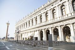 圣马尔谷教堂广场在威尼斯 库存照片