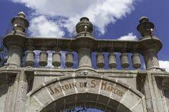 圣马科斯庭院的门  免版税库存图片