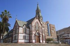 圣马科斯de阿里卡大教堂外部在阿里卡,智利 免版税图库摄影