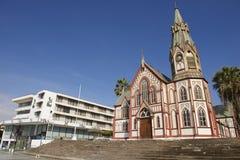 圣马科斯de阿里卡大教堂外部在阿里卡,智利 免版税库存照片